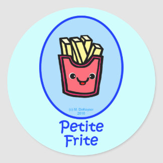 French - Blue Small Fry - French Fries Classic Round Sticker