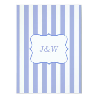 French Blue Stripes Card