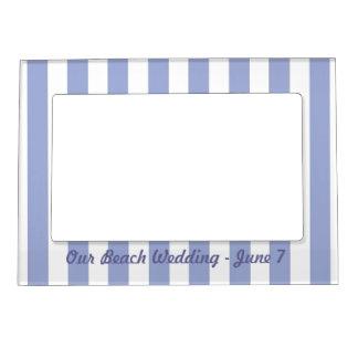 French Blue Stripes Magnetic Frame