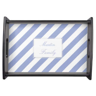 French Blue Stripes Serving Platters