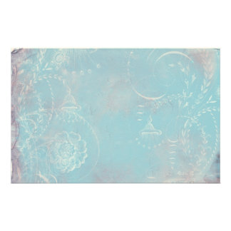 French Blue Toile Personal Stationery