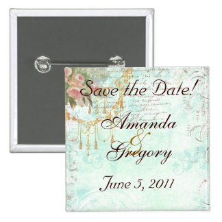 French Bluebird & Tassels Save the Date Pins