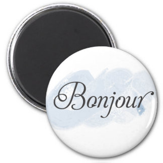 French Bonjour 2 Inch Round Magnet