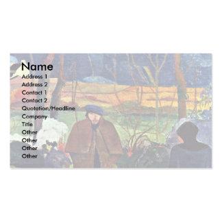 French: Bonjour Monsieur Gauguin (Ii), Good Mornin Business Card Template