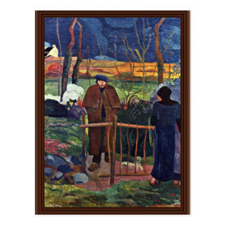 French: Bonjour Monsieur Gauguin (Ii), Good Mornin Postcard