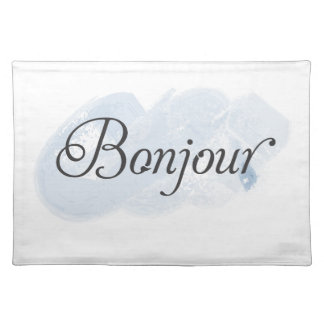 French Bonjour Place Mat