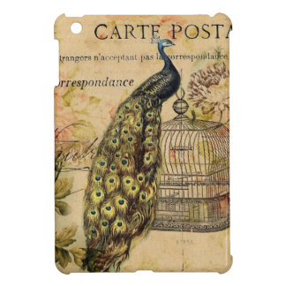 french botanical art art nouveau vintage peacock iPad mini case