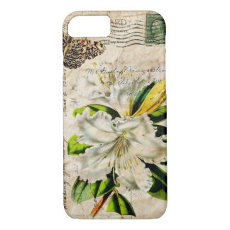 french botanical art country butterfly lily iPhone 8/7 case