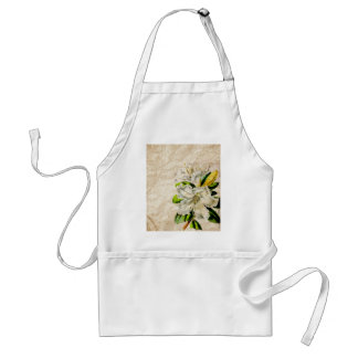 french botanical art country cottage vintage lily adult apron