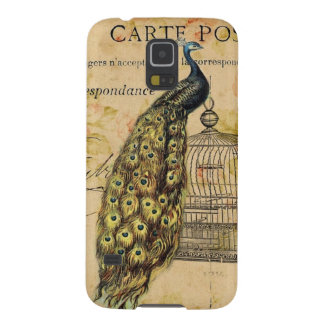 french botanical floral birdcage vintage peacock galaxy s5 cover
