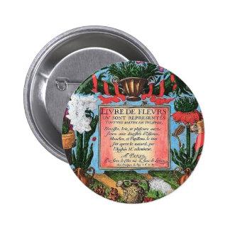 French Botanical Illustration Pin