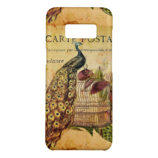 French Botanical orchid modern vintage peacock Case-Mate Samsung Galaxy S8 Case