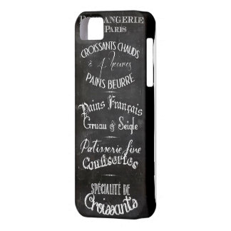 French boulangerie chalkboard menu iPhone SE/5/5s case