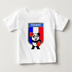 French Boxing Panda Baby Fine Jersey T-Shirt