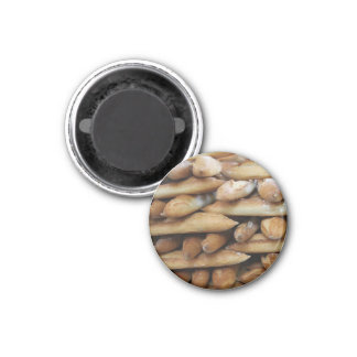 French bread by ProvenceProvence 1 Inch Round Magnet