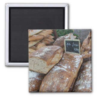 French bread by ProvenceProvence 2 Inch Square Magnet