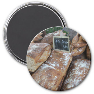French bread by ProvenceProvence 3 Inch Round Magnet