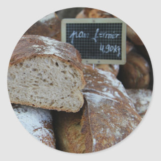 French bread by ProvenceProvence Classic Round Sticker