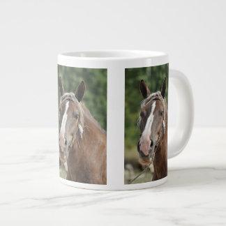 French Breton horse photo Giant Coffee Mug