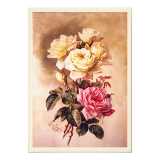 French Bridal Roses Fine Art Wedding Card