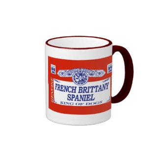 French Brittany Spaniel Ringer Coffee Mug