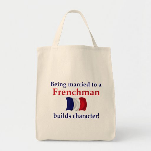 French Builds Character Grocery Tote Bag