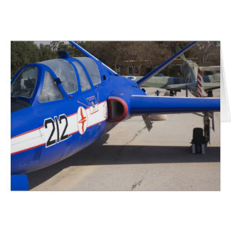 French Built Fouga Magister trainer Card