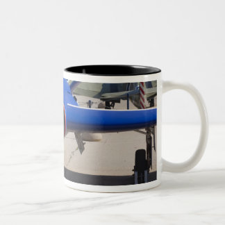 French Built Fouga Magister trainer Two-Tone Coffee Mug