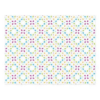 French Buldogs pattern Primavera Postcard