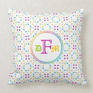 French Buldogs pattern Primavera Throw Pillow