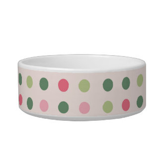 French bull dog  and colorful dots bowl