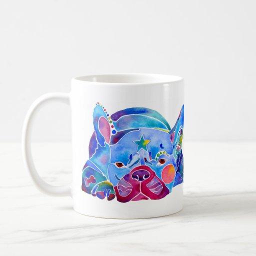 French Bull Dog in Blues Coffee Mug