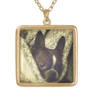 French Bull Dog Neckless Gold Plated Necklace