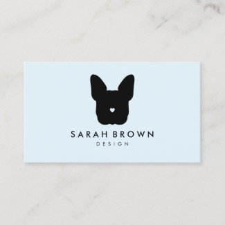 French Bull Dog puppy face frenchies blue black Business Card