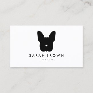 French Bull Dog puppy face frenchies Business Card