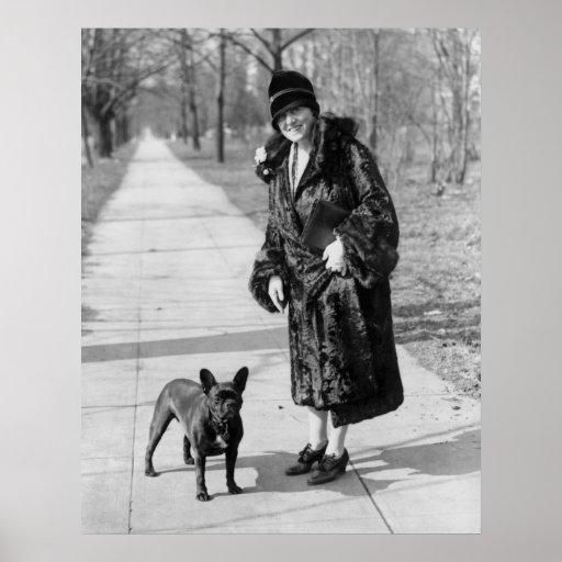 French Bulldog, 1920s Poster