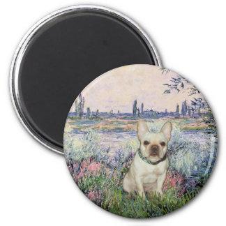 French Bulldog 1 - By the Seine 2 Inch Round Magnet