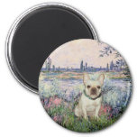French Bulldog 1 - By the Seine Refrigerator Magnets