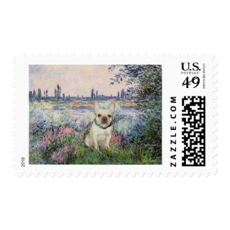French Bulldog 1 - By the Seine Postage Stamp