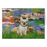 French Bulldog 1 - Lilies 2 Card