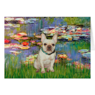 French Bulldog 1 - Lilies 2 Greeting Cards