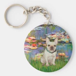 French Bulldog 1 - Lilies 2 Key Chains