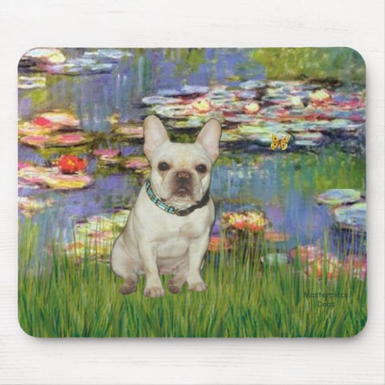 French Bulldog 1 - Lilies 2 Mouse Pad