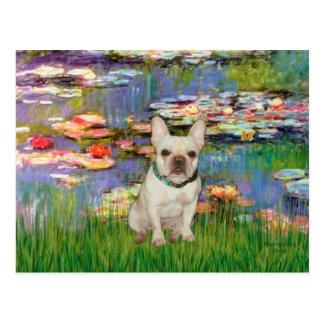 French Bulldog 1 - Lilies 2 Postcard