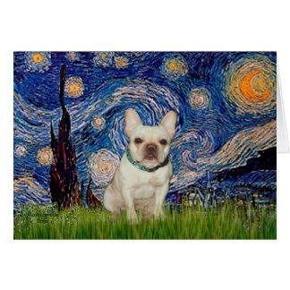 French Bulldog 1 - Starry Night Greeting Cards