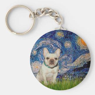 French Bulldog 1 - Starry Night Key Chain