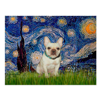 French Bulldog 1 - Starry Night Postcard