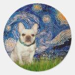 French Bulldog 1 - Starry Night Sticker