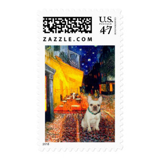 French Bulldog 1 - Terrace Cafe Postage Stamp