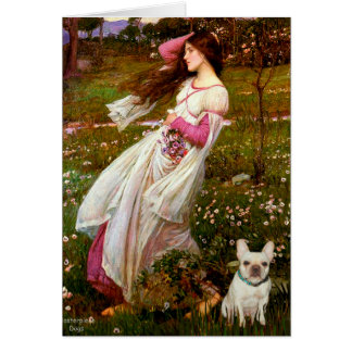 French Bulldog 1 - Windflowers Greeting Cards